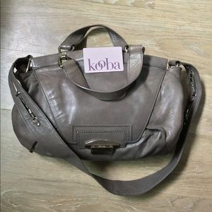 Cement gray Kooba 'Leonard' hobo shoulder bag $150